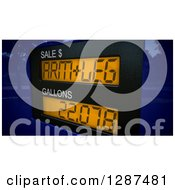 Clipart Of A 3d Arm And A Leg Price Meter On A Gas Pump Over A Map Royalty Free Illustration