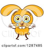 Cartoon Yellow Rabbit Crying