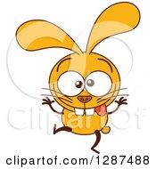 Cartoon Yellow Rabbit Making A Funny Face