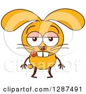 Cartoon Indifferent Yellow Rabbit