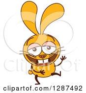 Cartoon Yellow Rabbit Laughing