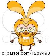 Cartoon Naughty Yellow Rabbit