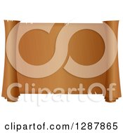 Clipart Of A Blank Textured Parchment Scroll Royalty Free Illustration