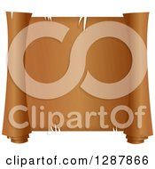Clipart Of A Blank Textured Scroll Of Parchment Royalty Free Illustration