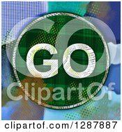 Plaid Go Sign With A Collage Of Colors And Patterns