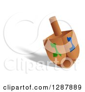 Clipart Of A Driedel Toy And Shadow On White Royalty Free Illustration