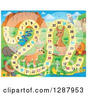 Clipart Of A Numbered Board Game With Australian Animals Royalty Free Vector Illustration