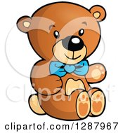 Clipart Of A Teddy Bear Boys Toy Royalty Free Vector Illustration by visekart