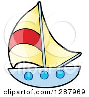 Clipart Of A Sailboat Boys Toy Royalty Free Vector Illustration by visekart