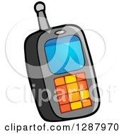 Clipart Of A Cell Phone Boys Toy Royalty Free Vector Illustration by visekart