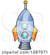 Clipart Of A Rocket Boys Toy Royalty Free Vector Illustration by visekart