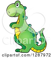 Clipart Of A Tyrannosaurus Rex Dinosaur Boys Toy Royalty Free Vector Illustration by visekart