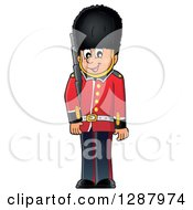 Clipart Of A Happy London Beefeater Guard Royalty Free Vector Illustration by visekart