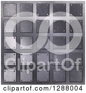 Clipart Of A 3d Background Of Metal Squares Royalty Free Illustration