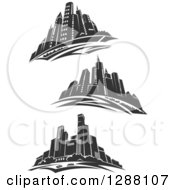Dark Gray City Skyscraper Skylines