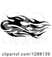 Clipart Of A Horizontal Black And White Flames Design Element 5 Royalty Free Vector Illustration