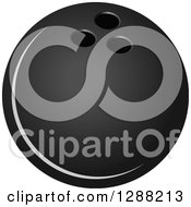 Clipart Of A Grayscale Bowling Ball 2 Royalty Free Vector Illustration by Seamartini Graphics