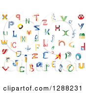 Clipart Of Colorful Abstract Alphabet Letters 2 Royalty Free Vector Illustration