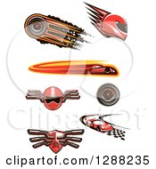 Clipart Of Auto Racing Designs Royalty Free Vector Illustration