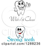 Clipart Of Text And Teeth Characters Royalty Free Vector Illustration by Seamartini Graphics