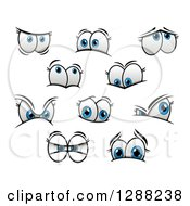 Clipart Of Expressional Blue Female Eyes Royalty Free Vector Illustration by Seamartini Graphics