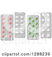 Clipart Of Blister Packages Of Pills Royalty Free Vector Illustration by Seamartini Graphics