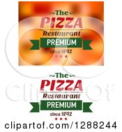 Clipart Of Pizza Text Designs 4 Royalty Free Vector Illustration by Seamartini Graphics