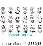 Clipart Of Faces With Different Expressions And Text Royalty Free Vector Illustration by Seamartini Graphics