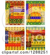 Clipart Of Tribal African Design Elements Royalty Free Vector Illustration