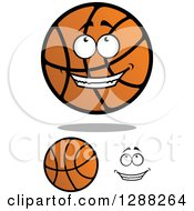 Clipart Of A Face And Basketball Characters Royalty Free Vector Illustration by Seamartini Graphics