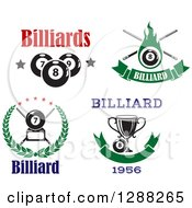 Clipart Of Billiards Pool Eight And Seven Ball Designs Royalty Free Vector Illustration