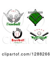 Clipart Of Baseball Sports Designs Royalty Free Vector Illustration