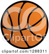 Clipart Of A Black And Orange Basketball Royalty Free Vector Illustration by Seamartini Graphics