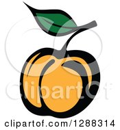 Clipart Of A Peach Or Apricot Royalty Free Vector Illustration by Vector Tradition SM