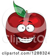 Clipart Of A Happy Red Apple Character Royalty Free Vector Illustration