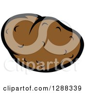Clipart Of A Russet Potato Royalty Free Vector Illustration