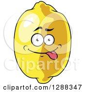 Clipart Of A Goofy Lemon Character Royalty Free Vector Illustration