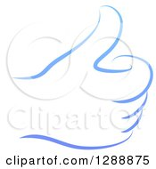 Clipart Of A Gradient Blue Hand Giving A Thumb Up Royalty Free Vector Illustration by AtStockIllustration