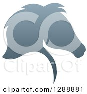 Clipart Of A Gradient Gray Horse Head Silhouette In Profile Royalty Free Vector Illustration