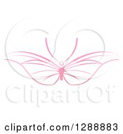 Clipart Of A Pink Butterfly With Wide Wings Royalty Free Vector Illustration by AtStockIllustration