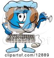 Desktop Computer Mascot Cartoon Character