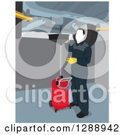 Clipart Of A Male Mechanic Garage Worker Performing An Oil Change Under A Lifted Car Royalty Free Vector Illustration by David Rey