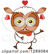 Smitten And Amorous Sheep In Love
