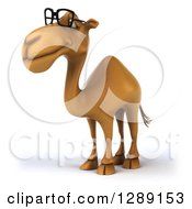Clipart Of A 3d Bespectacled Camel Facing Slightly Left Royalty Free Illustration