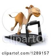 Clipart Of A 3d Camel Running On A Treadmill 4 Royalty Free Illustration