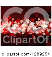Heart Bokeh Red Valentines Day Background