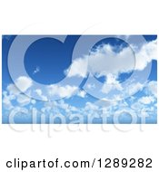 Clipart Of A Puffy Clouds And Blue Sky Nature Background Royalty Free Illustration by KJ Pargeter