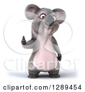 Clipart Of A 3d Koala Giving A Thumb Up Royalty Free Illustration