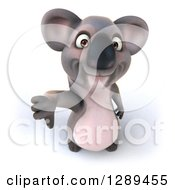 Clipart Of A 3d Koala Holding Up A Thumb Down Royalty Free Illustration