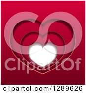 Clipart Of A Background Of Layers Of Red Hearts And White Space Royalty Free Vector Illustration